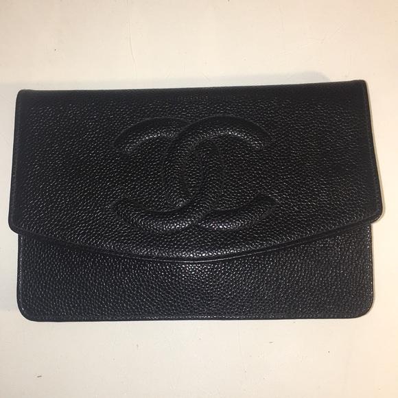0b3f7a17a8cb CHANEL Handbags - Chanel WOC Black Caviar Wallet on Chain